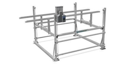 Hi-Lift Vertical Lift HL3800 with pontoon rack kit